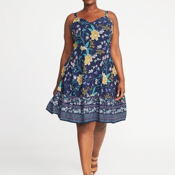 9f312a58832 NWT Old Navy Fit   Flare tiered cami dress 2X